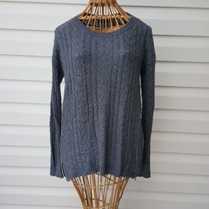 AERO Grey Women's Cable Sweater Size Large